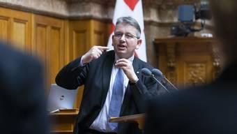 Auf verlorenem Posten: Raymond Clottu (NE/SVP, parteilos).