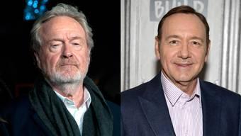Getrennte Freunde Regisseur Ridley Scott (79, links) hat Darsteller Kevin Spacey (58, rechts) aus dem bereits fertig gedrehten Film «All the Money in the World» rausgeschnitten, nach dem Vorwürfe wegen sexueller Belästigung gegen Spacey bekannt wurden.