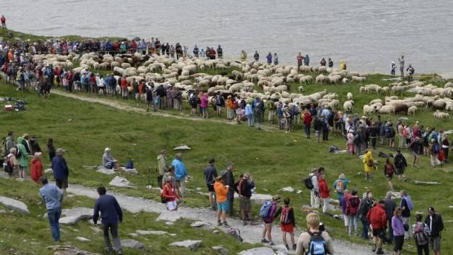 Schäferfest auf dem Gemmipass (Archivbild)