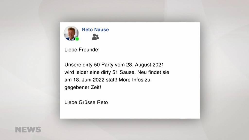 «Dirty 50 Party»-Einladung von Reto Nause landet auf Aufkleber
