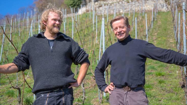 Biodynamisches Winzerduo Antoine Kaufmann und Lukas Vögele haben bereits in der Provence zusammen Wein gemacht.