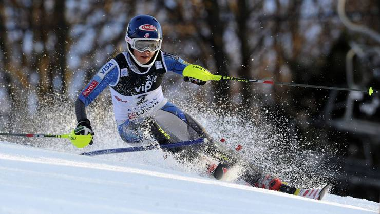 Mikaela Shiffrin gewinnt den Slalom in Flachau vor der Schwedin Frida Hansdotter.