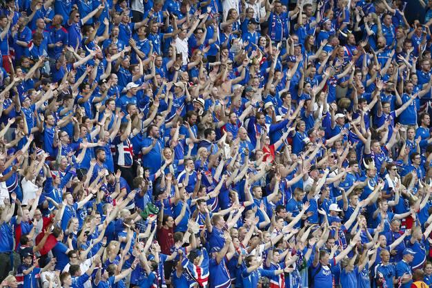Die Fans bestgelaunt