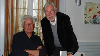 GOV-Präsident Peter Isler (rechts) und Roland Meyer freut der Rebberg. ba