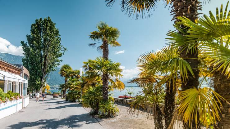 Es ist ruhig geworden an der Promenade in Montreux. Copyright: Maude Rion/MontreuxRiviera