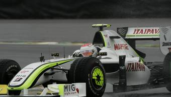 Rubens Barrichello behielt im Regenchaos die Nerven