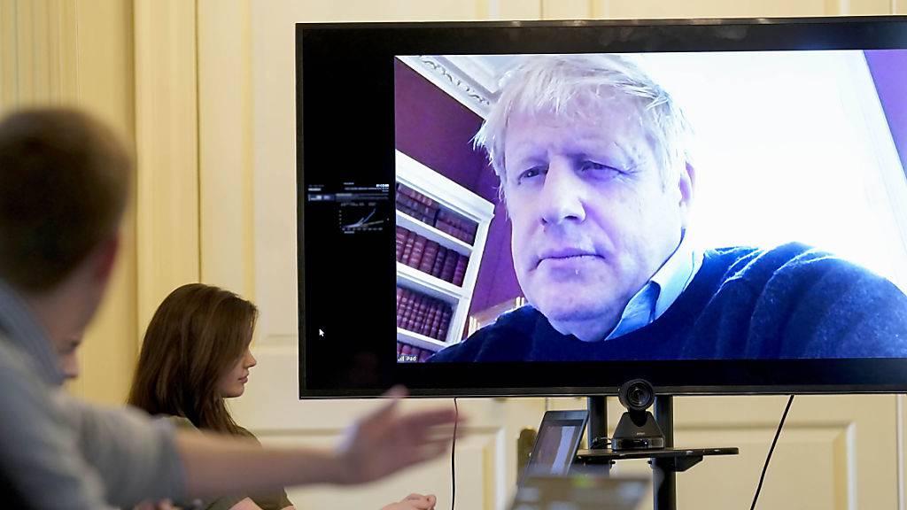 Britischer Premierminister Boris Johnson im Spital