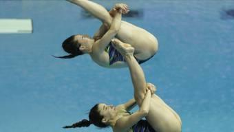 Madeline Coquoz und Jessica-Floriane Favre springen an der WM synchron auf Platz 11