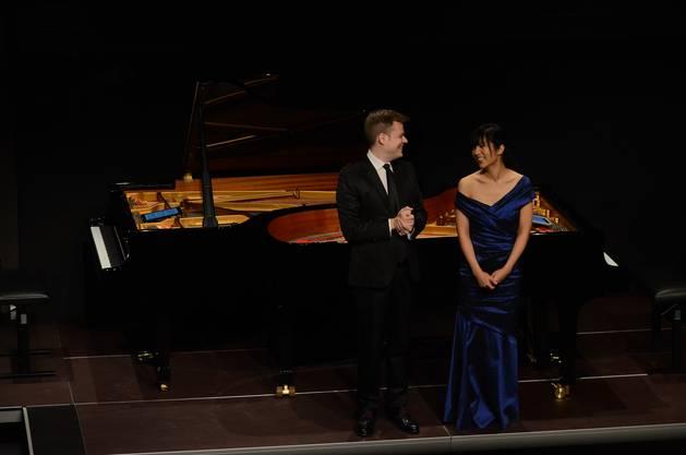 Das Piano-Duo Greg Anderson und Elisabeth Joy Roe gaben zu jedem Werk eine Einführung - packend und berührend  TAB