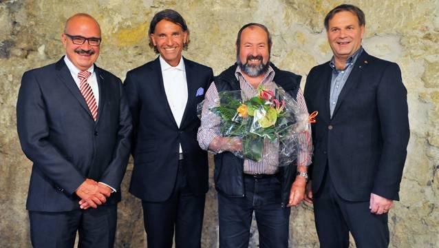 Kurt Henzmann, Moreno Cavaliere, Bruno Eng und Max Feuz (von links) prägten den Niedergösger Gewerbetreff.
