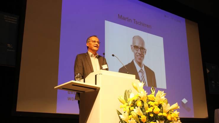 BWO-Direktor Ernst Hauri stellt seinen Nachfolger Martin Tschirren vor