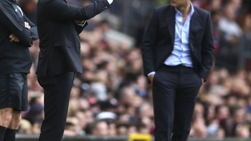 Frank Lampard (rechts) erlebte einen Horrorstart in die Saison - Ole Gunnar Solskjaer (links) dirigierte sein Manchester United in aller Ruhe zum klaren Sieg
