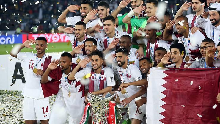 Die Freude bei den Spielern von Katar ist gross