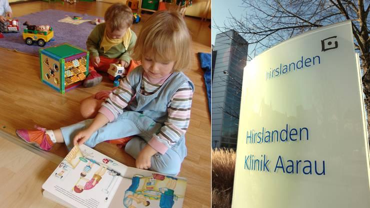 Zwei gemischte Gruppen à 12 Kinder werden ab August in der Krippe der Hirslandenklinik betreut.