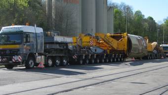Polizei begleitet spektakulären Schwertransport mit 547 Tonnen Gesamtgewicht