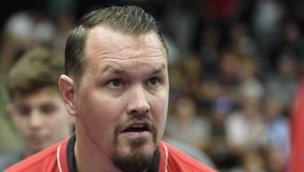 Der Trainer des HSC Suhr Aarau ist immer mit vollem Engagement bei der Sache.