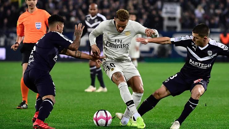 Neymar traf zwar zur 1:0-Führung für PSG in Bordeaux, dennoch musste sich der Leader der Ligue 1 erstmals in dieser Saison mit einem Remis begnügen