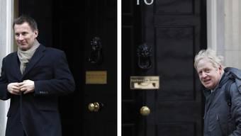 Aussenminister Jeremy Hunt (l.) tritt gegen den Favoriten Boris Johnson im Rennen um das Amt des konservativen Parteichefs und britischen Premierministers an. (Archivbild)