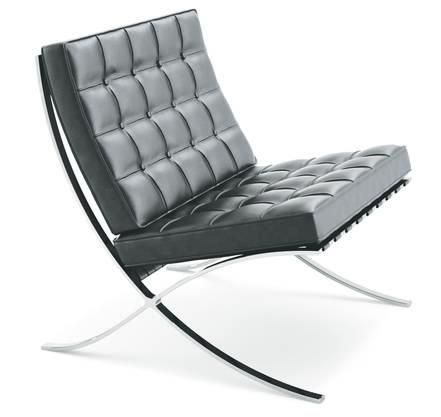 Barcelona Chair von Bauhausdirektor Ludwig Mies van der Rohe von 1929. Bei Knoll, 6800 Franken.