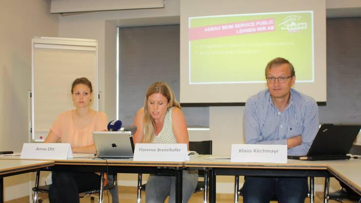 Partei-Vize Anna Ott und Fraktionschef Klaus Kirchmayr stehen für die Nachfolge von Florence Brenzikofer nicht zur Verfügung.