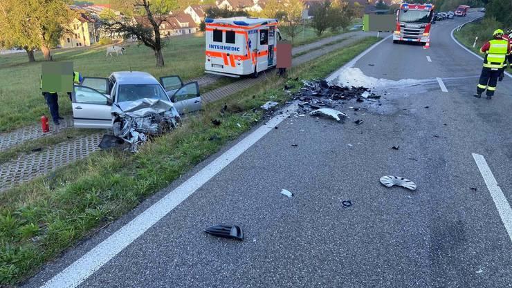 Auf der Sädelstrasse ereignete sich am Dienstagmorgen ein Unfall.