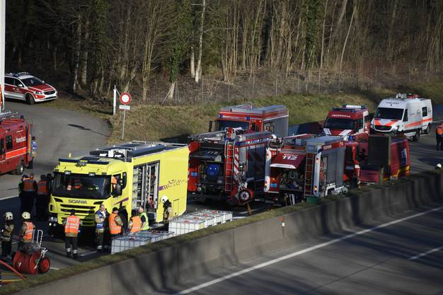 Der Lastwagen hatte 24'000 Liter leicht entzündliches Methanol geladen.