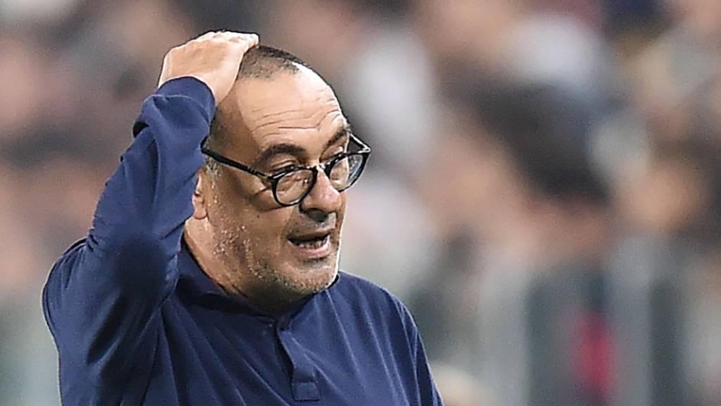 Juventus-Trainer Maurizio Sarri sah in Lecce nur ein 1:1 seiner Mannschaft.
