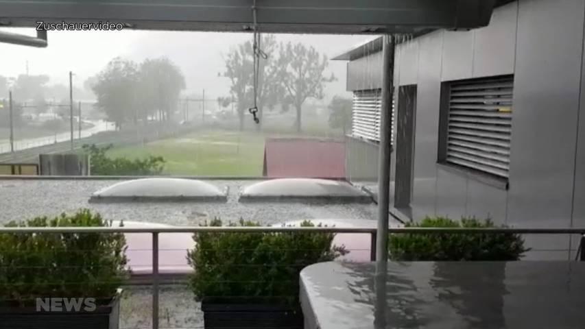 Regenrekord in Interlaken: Lokales Sommergewitter fordert die Feuerwehr