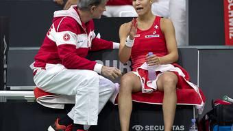 Das Schweizer Fed-Cup-Team steht im Aufstiegs-Playoff auswärts gegen die USA vor einer schwierigen Aufgabe: Captain Heinz Günthardt mit Viktorija Golubic