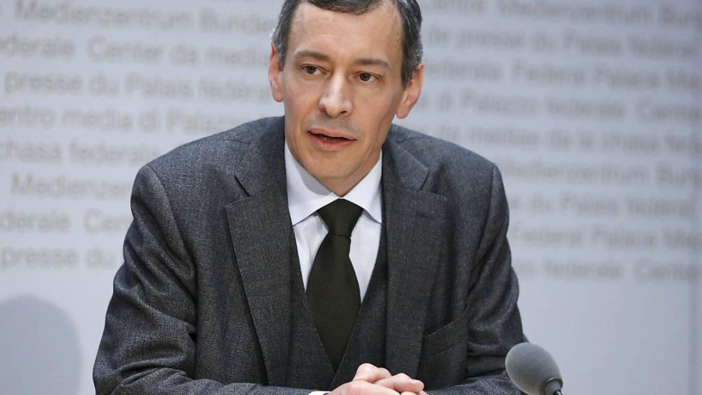 Vizekanzler Jörg de Bernardi informiert über die Stellungnahme des Bundesrates zum gewaltsamen Tod des saudischen Journalisten Jamal Khashoggi.