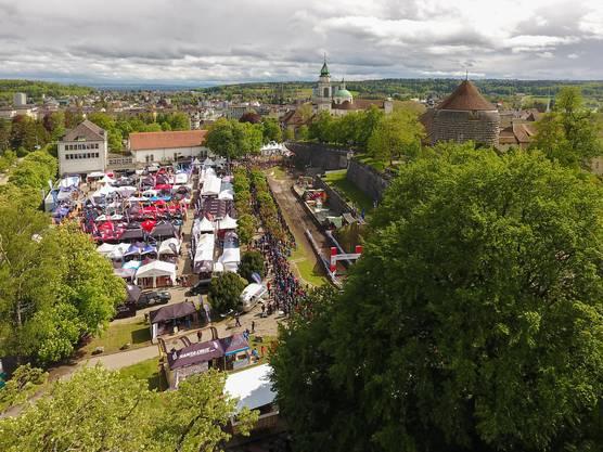 Der Blick von oben aufs Festivalgelände