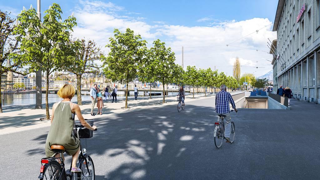 So soll die Bahnhofstrasse in Luzern in Zukunft aussehen