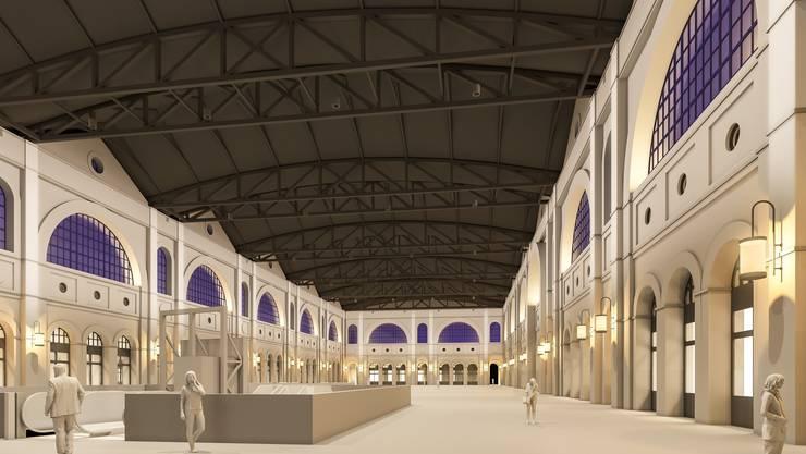So soll die neue Beuleuchtung in der Haupthalle des Hauptbahnhofs aussehen.
