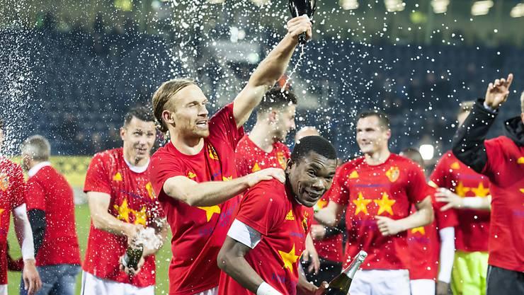 Champagnerduschen: Der Schweizer Meister heisst zum achten Mal in Folge FC Basel