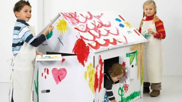 Früh übt sich, wer ein Häuslebauer werden will. Foto: HO