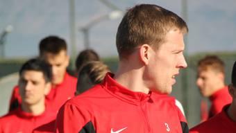 Nauris Bulvitis während des Trainingslagers des FC Aarau in Belek