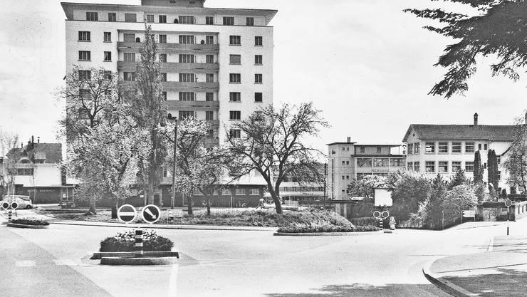 Der Hallgarten war das zweite Hochhaus in Grenchen.