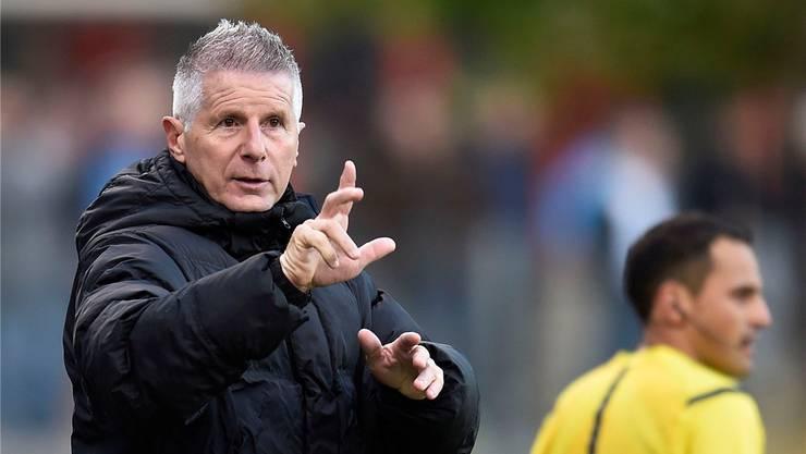 Dieses Bild gehört der Vergangenheit an: Livio Bordoli ist nicht mehr Trainer beim FC Aarau.