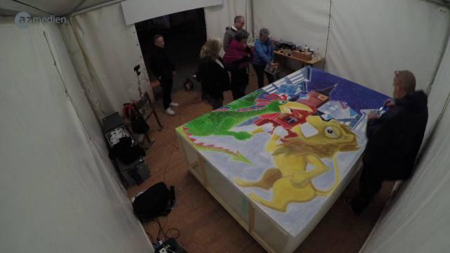 Timelapse: Zum Basler Mega-Kunstwerk in 4 Minuten