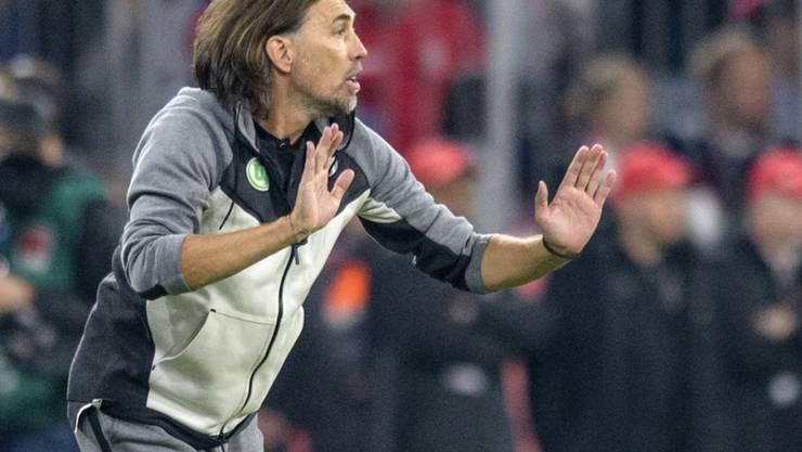 Einen Punkt gegen Bayern München: Der Schweizer Trainer Martin Schmidt ist mit Wolfsburg nach zwei Spielen noch ungeschlagen