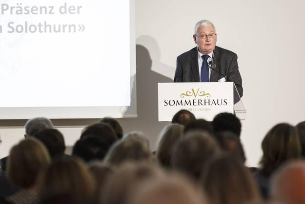Vortrag von Andreas Fankhauser, Staatsarchivar des Kantons Solothurn