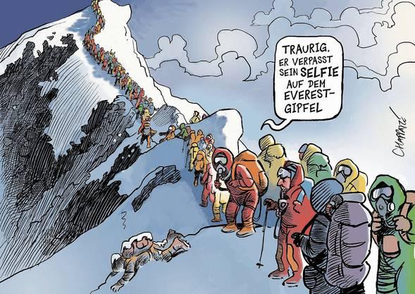 Massentourismus am Mount Everest – nicht ungefährlich.