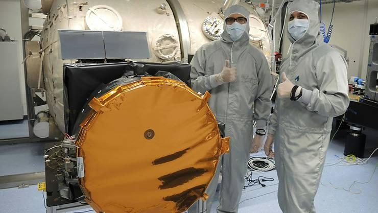 Das an der Universität Bern entwickelte Weltraumteleskop ist zum Einpacken bereit.
