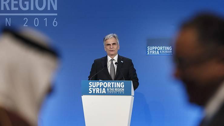 Will Flüchtlinge in die Türkei zurückschicken: Österreichs Bundeskanzler Werner Faymann
