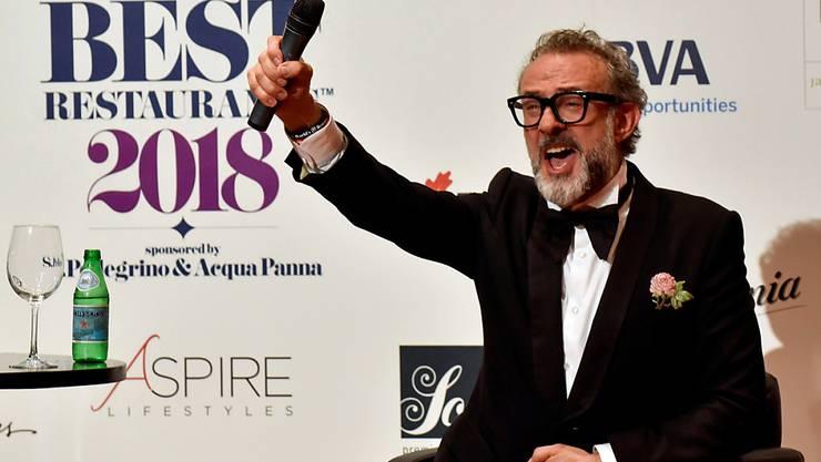 """Der Küchenchef des Gourmet-Tempels """"Osteria Francescana"""" im italienischen Modena freut sich über die Auszeichnung als weltweit bestes Restaurants."""
