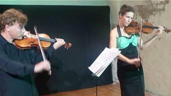 Virtuose Instrumentalisten: Manrico Padovani und Natasha Korsakova in Frick. – Foto: ari
