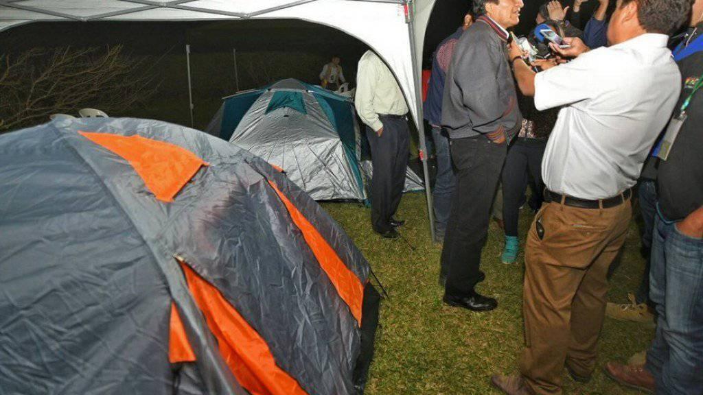 """""""Ich habe so gut geschlafen wie zu den Zeiten, als ich Lama-Hirte war"""", sagte Evo Morales am Montag nach dem Aufwachen."""
