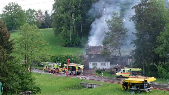 Beim Brand wurde zum Glück niemand verletzt