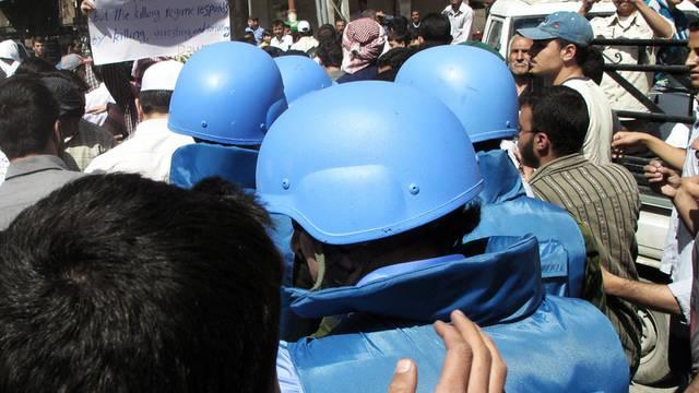 Am Erfolg der UNO-Beobachter - hier ein Bild aus Damaskus - wird gezweifelt (Archiv)