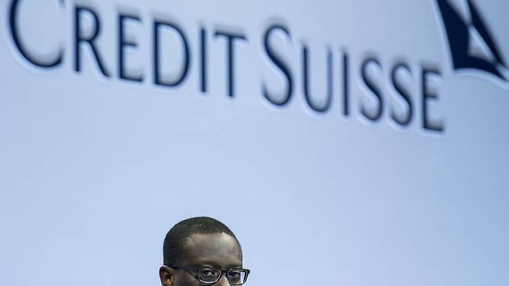 Credit Suisse-Chef Tidjane Thiam kann mehr Gewinn seiner Grossbank im dritten Quartal verkünden. (Archiv)